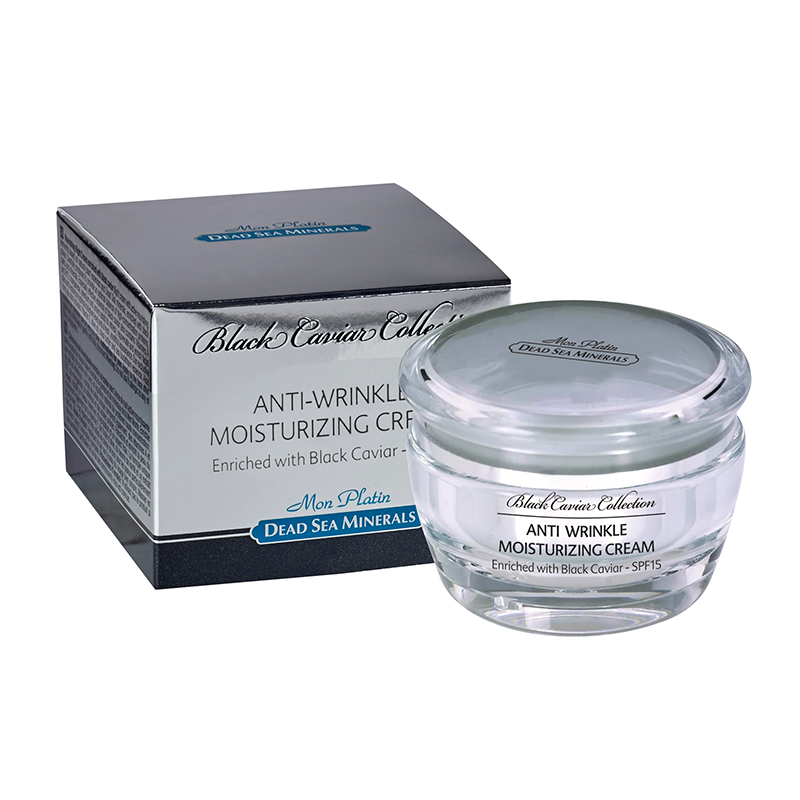 Anti-wrinkle moisturizing cream SPF 15 black caviar