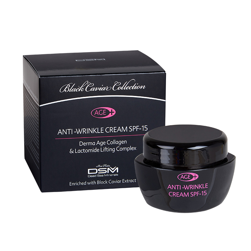 Anti-wrinkle cream derma-age plus SPF-15 black caviar