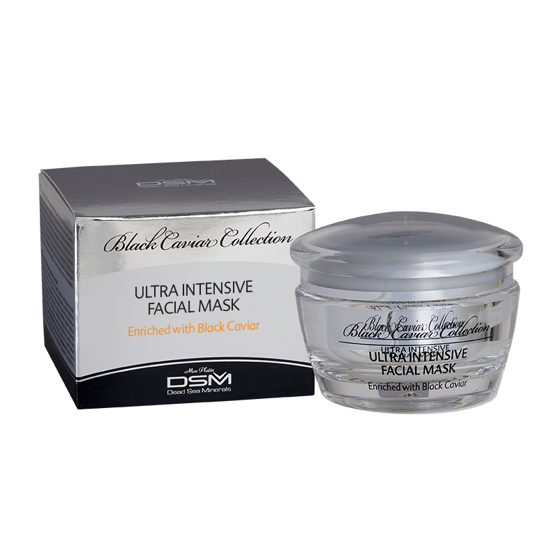 Facial ultra intensive mask with vitamins capsules black caviar