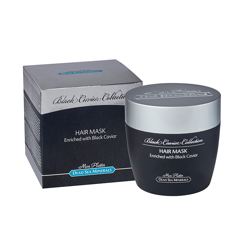 Hair mask with vitamins capsules black caviar
