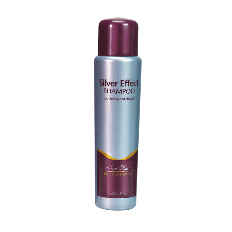 Silver effect hair shampoo