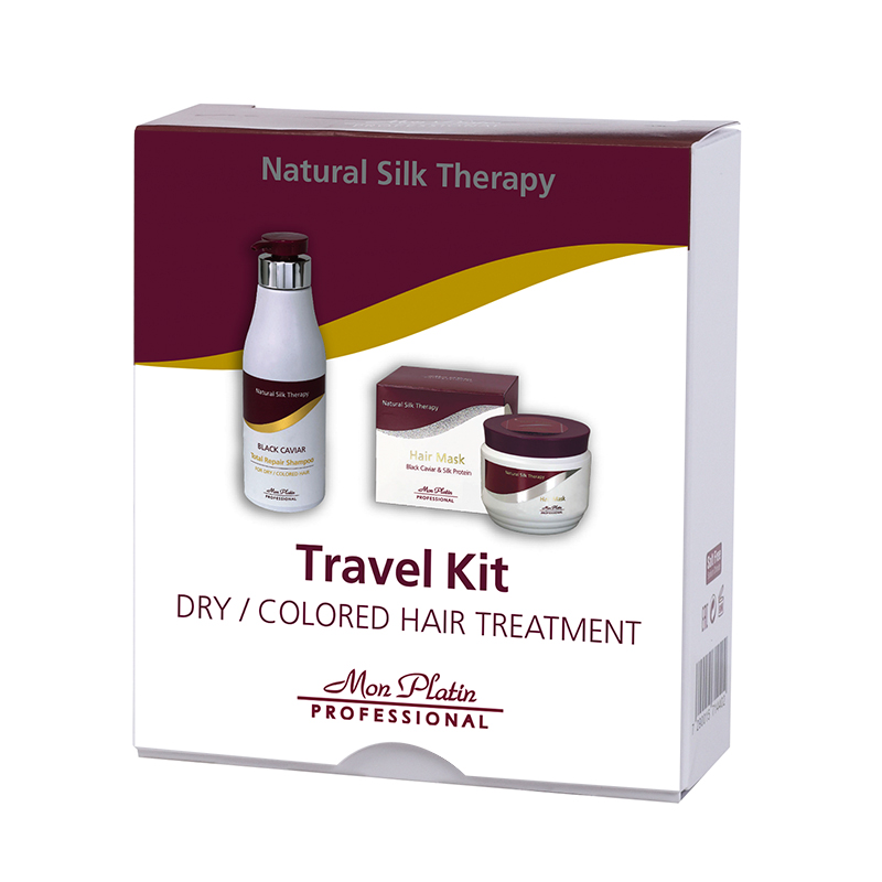 Travel kit for dry hair treatment shampoo & hair mask
