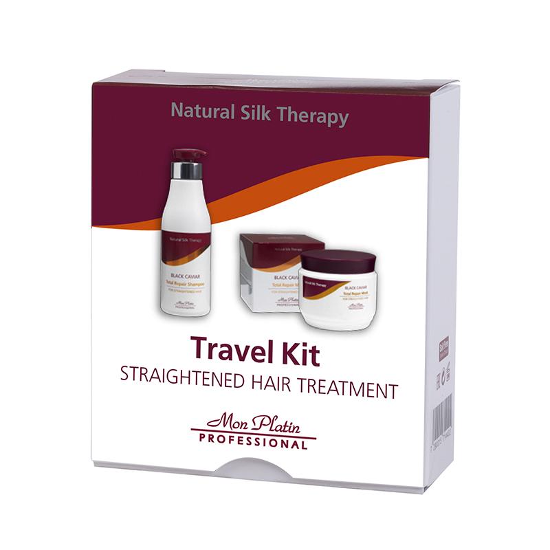 Travel kit for straightened hair treatment